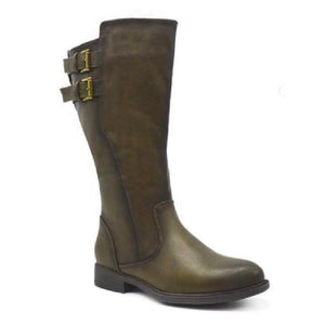Kristi Boot for Athletic Calf in Olive