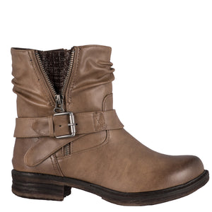 Utah Short Taupe Boots by Taxi