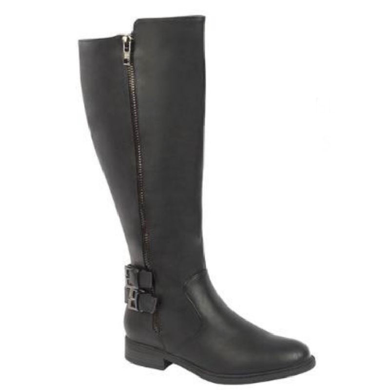 Impact Wide Calf Boot in Black