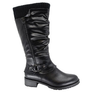 Olivia Mid Calf Black Boots by Taxi