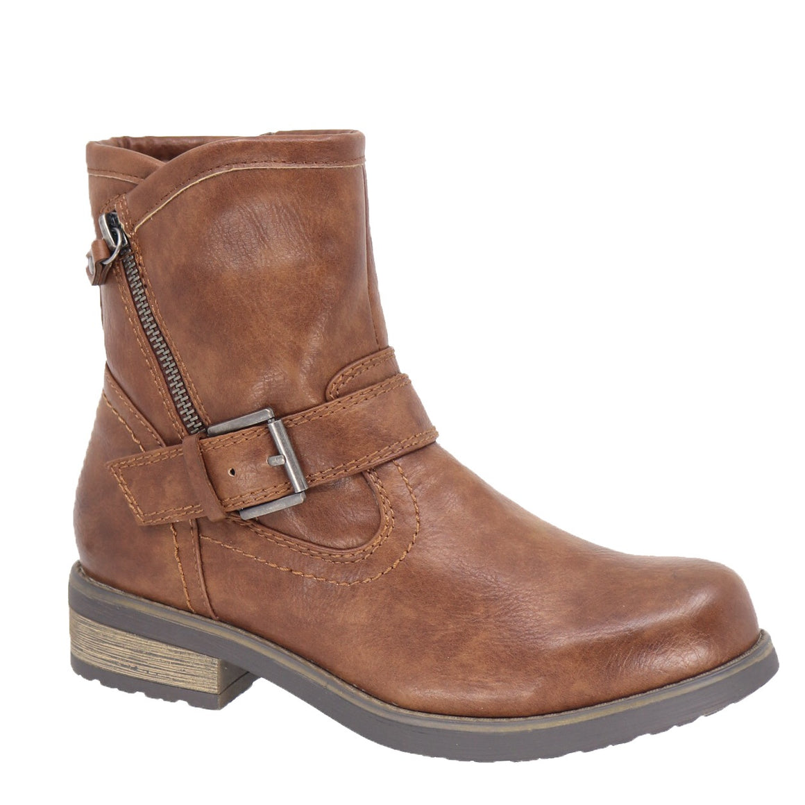 Jenna Short Tan Boots by Taxi