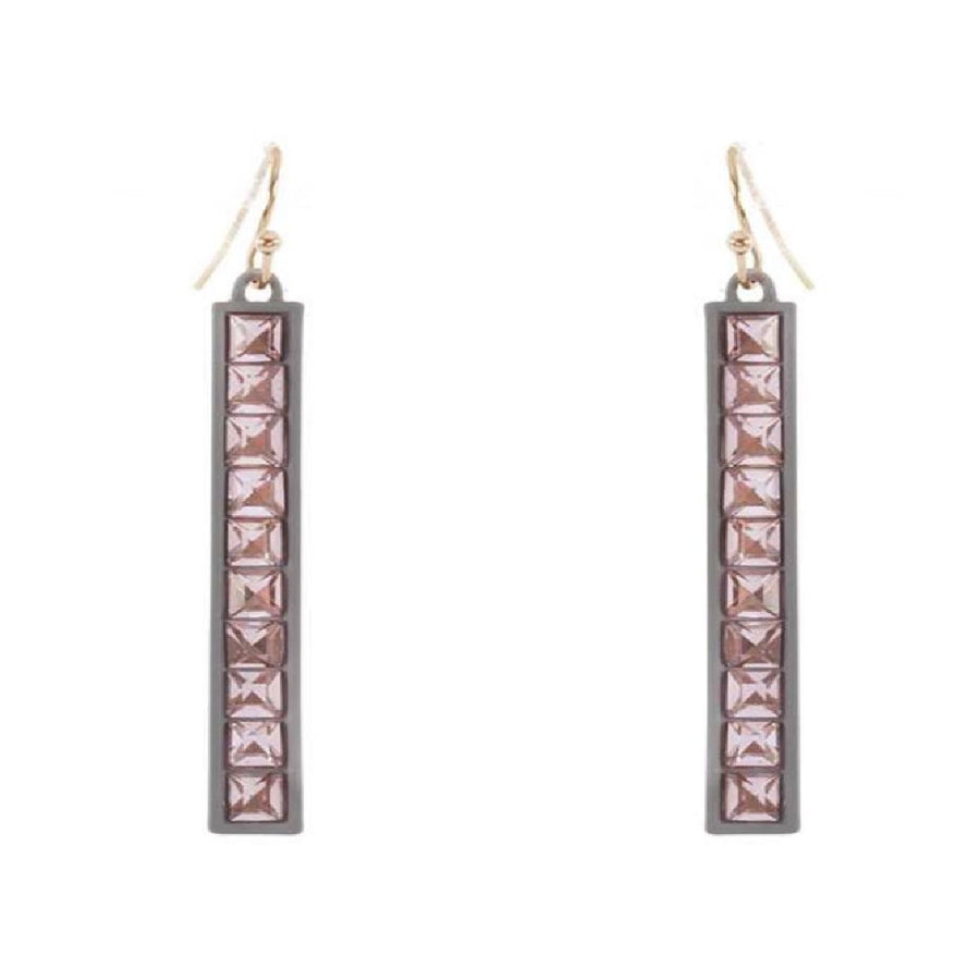 Pink & Grey Fashion Earrings