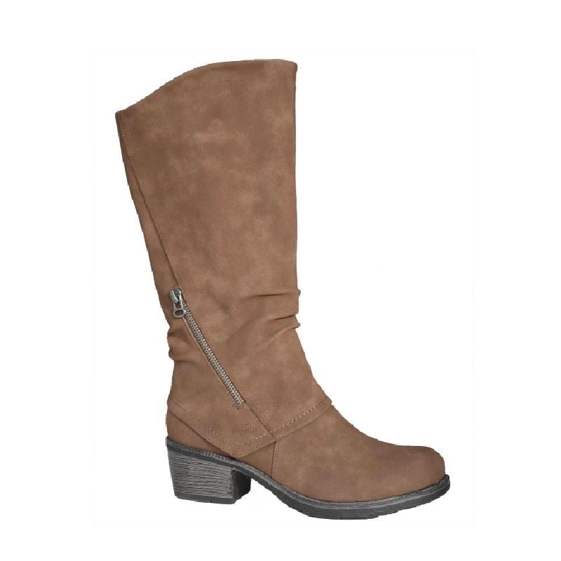 Delray Regular Calf Tall Tan Boot by Taxi
