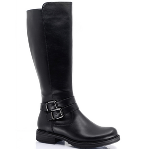 Brenda Wide Calf Tall Black Boot by Taxi