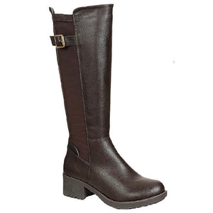 Darby Wide Calf Boot in Brown