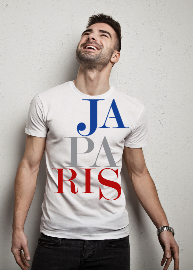 JAPARIS LARGE LOGO PRINT (WHITE)