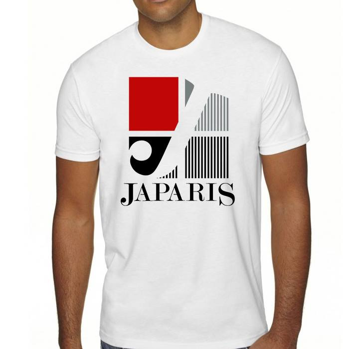 JAPARIS (WHITE) ART DESIGN T-SHIRT
