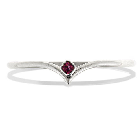 Arrow Bangle with gemstone