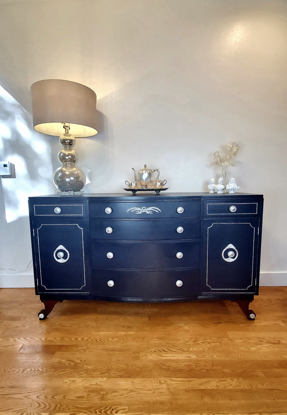 Royal Blue-Silver Buffet / Storage