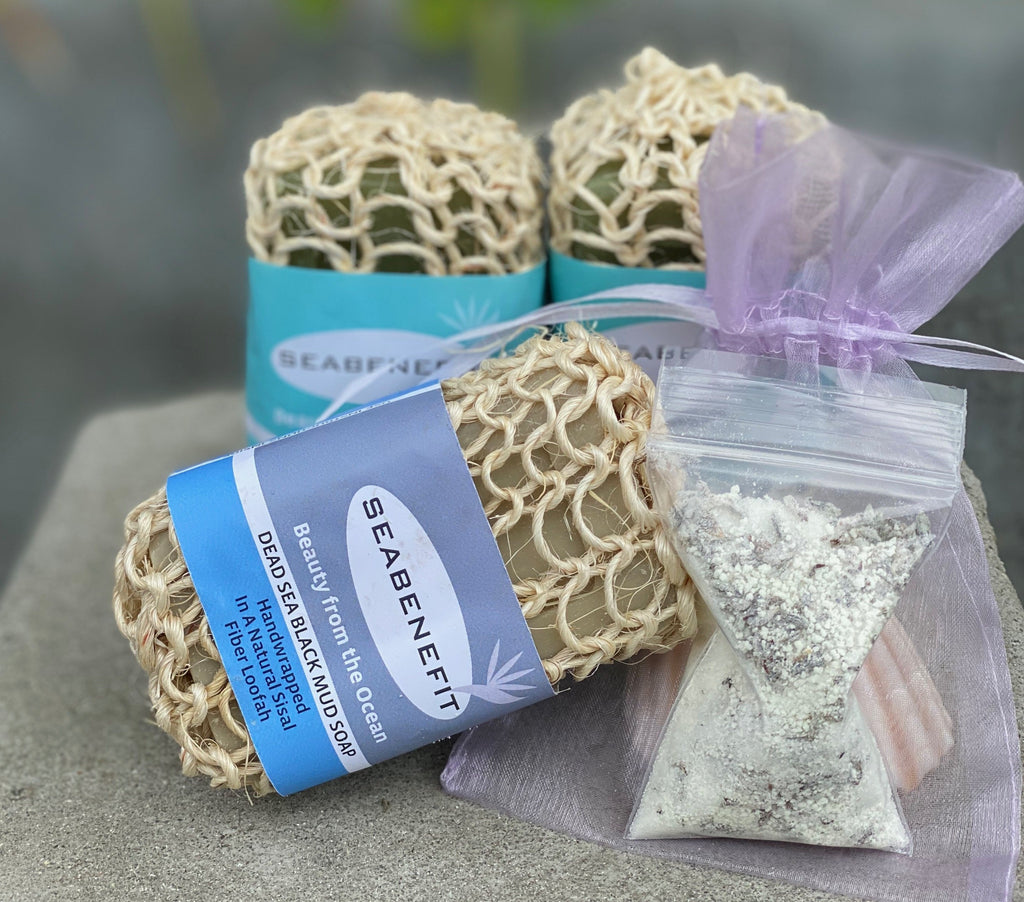 Healing Benefits of the Sea Trio + Free Dead Sea Salts Tub Tea Sample & Muslin Bag