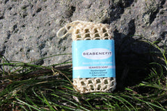 Seabenefit Pacific Seaweed Soap Wrapped in a Loofah