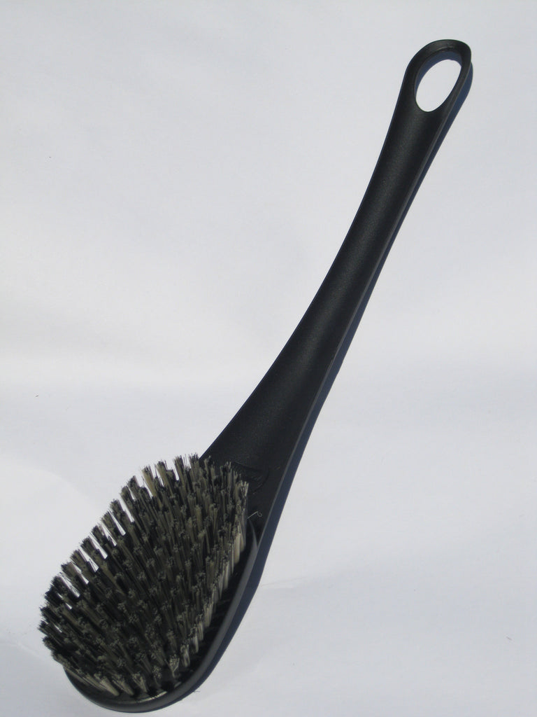 Black Handle Oval Bristle Brush