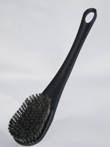 Black Handle Oval Boar Bristle Brush