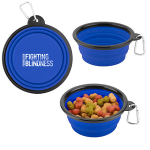 Collapsible Silicon Pet Bowl w/ Carabiner
