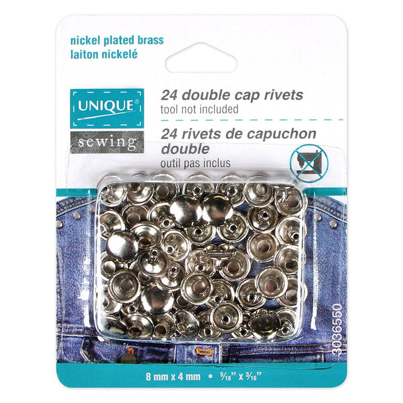 24 Rivets de capuchon double
