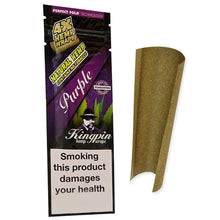 Load image into Gallery viewer, Kingpin Flavoured Hemp Blunt Wraps - Goomba Grape 4 Pack (Box/25)