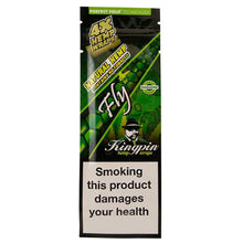 Load image into Gallery viewer, Kingpin Flavoured Hemp Blunt Wraps - Fly Caramel 4 Pack (Box/25)