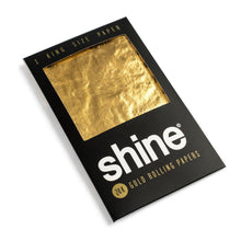 Load image into Gallery viewer, Shine Gold 1-Sheet Pack King Size Rolling Papers (Box 24)