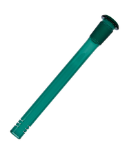 Load image into Gallery viewer, Teal Glass Slit Diffusor Downstem 14mm - Assorted Sizes