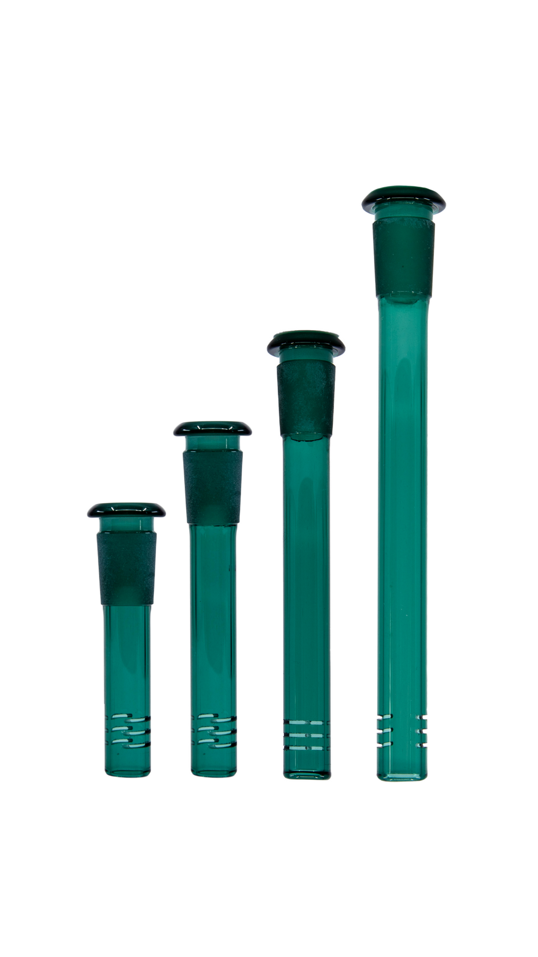 Teal Glass Slit Diffusor Downstem 14mm - Assorted Sizes