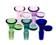 Load image into Gallery viewer, Coin Handle Coloured Male Glass Cone 14mm - Assorted Colours