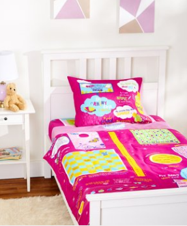Playtime Twin 4-Piece Set With Bed Cover. 75 GSM Ultra Soft Microfiber. - Playtime Bed Sheets and Slumber Bags