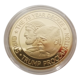 For A Donation Of $45, Receive The Gift: Cyrus Trump Proclamation Prayer Coin