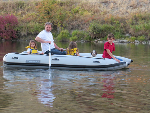 River boating with the Takacat T340LX