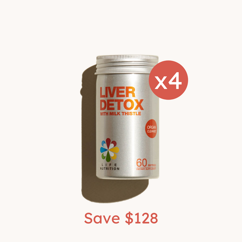 Liver Detox x4 bottles bundle Set