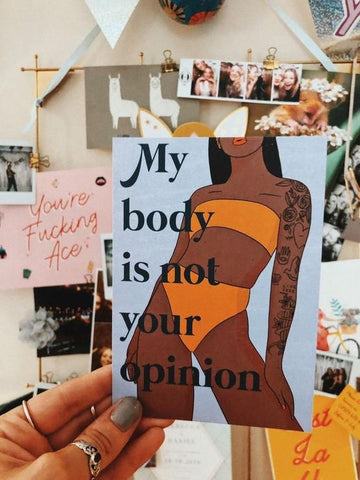 My Body Is Not Your Opinion art
