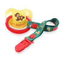 Safari Monkey Pacifier and Clip