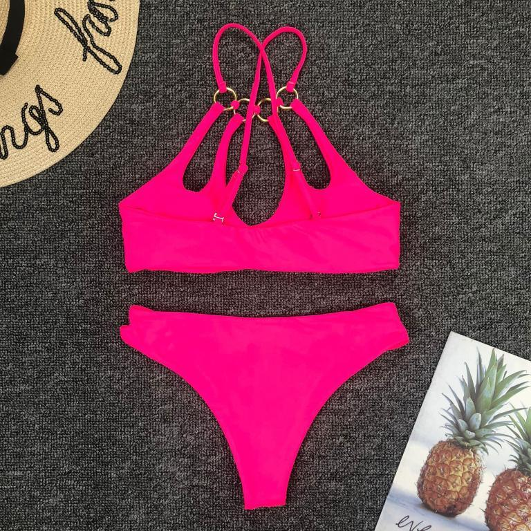 Vega pink two pieces bikini set, Vega brand.