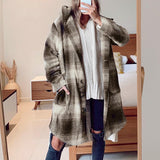 Vega loose plaid coat with pockets , autumn winter, Vega brand.