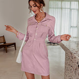 Pinky girl buttons casual straight dress , Vega brand.
