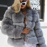 Vintage fluffy faux fur coat, Vega brand.