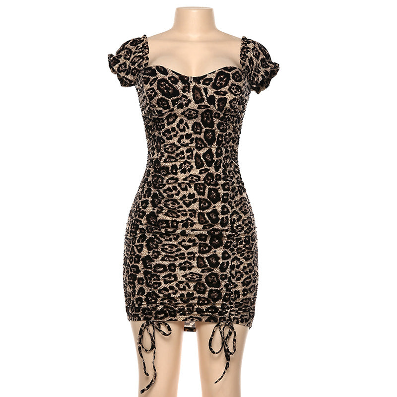 Women Autumn Backless Slim Short Leopard print , Vega brand.