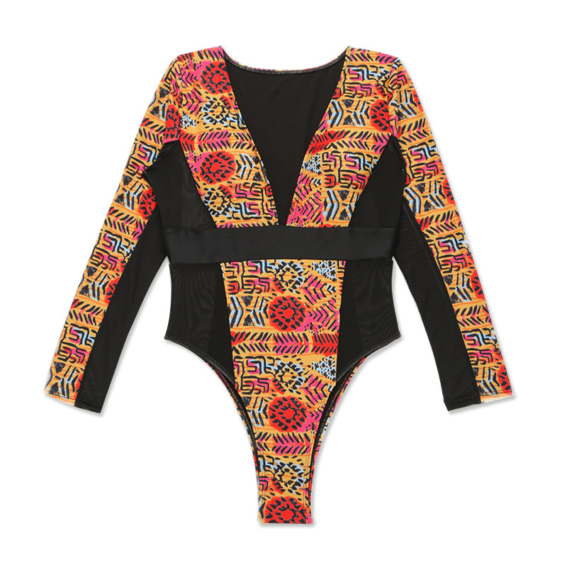 Vega one piece swimsuit with long sleeves , Vega brand.