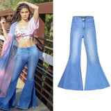 Vega wide leg pants, big flared denim pants, Vega brand.