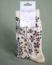 Organic Cotton Floral Socks
