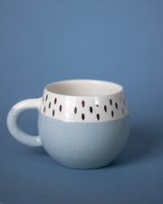 "Handmade ""Alice Blue"" Mug with 12K Gold Accents"