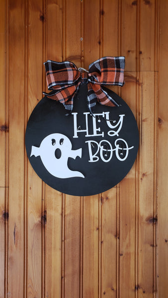 Hey Boo Home Decor Halloween Sign