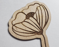 Let It Be Flower Flexible Wooden Engraved Sticker