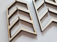 Wood Chevron Arrow Earring Blanks