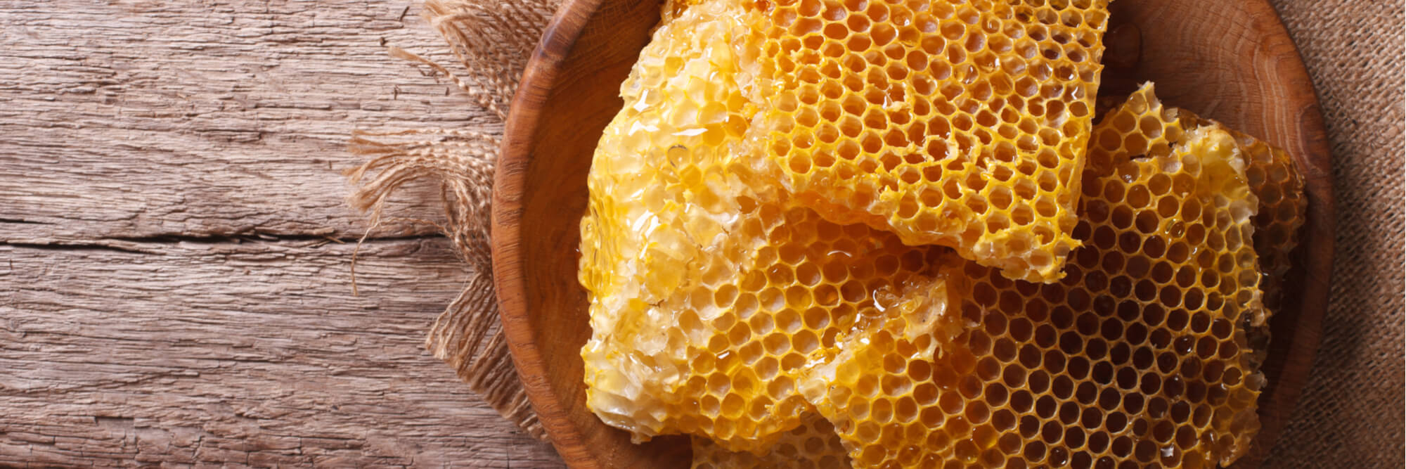 Beeswax direct from the hive.