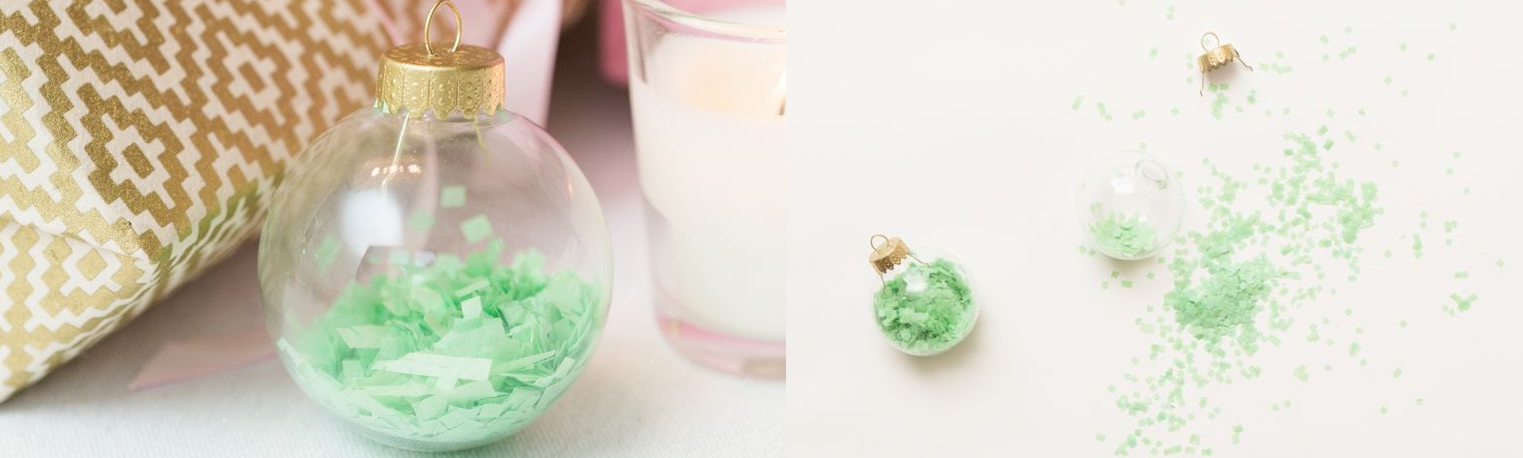 A DIY Christmas tree decorative bauble using old craft paper - try it with old wrapping paper!