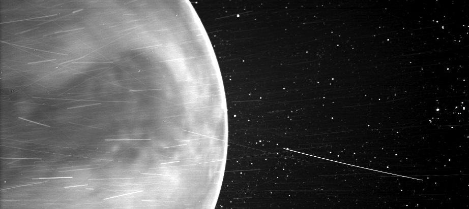 An image of Venus taken on July 11, 2020, by an instrument on NASA's Parker Solar Probe.  Image credit: NASA