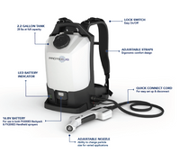 EvaClean Protexus Cordless Electrostatic Disinfectant Sprayer