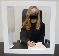 Student desk shield PPE for COVID protection
