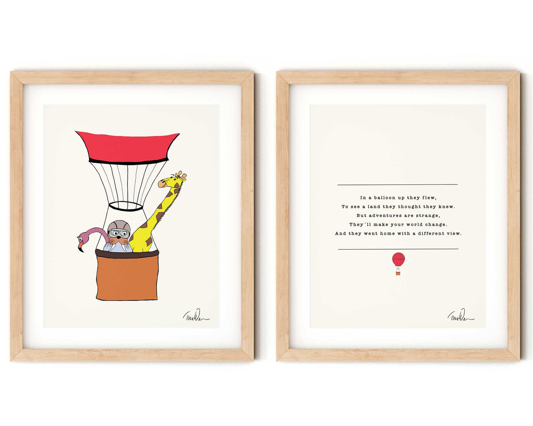 Up in the Air Nursery Rhyme and Print Set