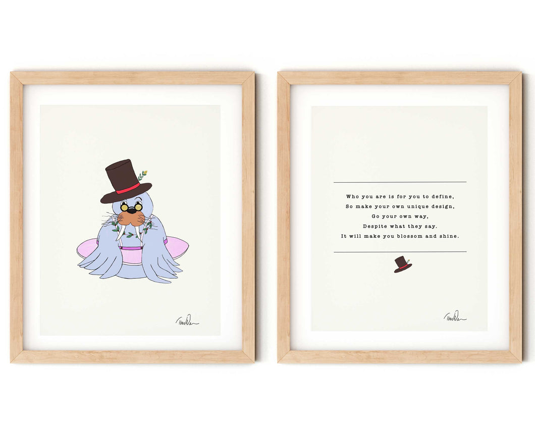 Perfectly Unique Nursery Rhyme and Print Set